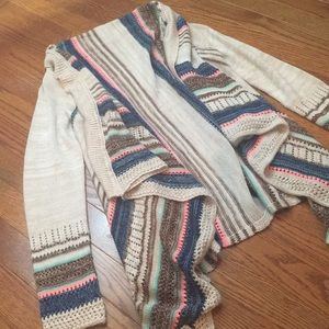 Stripped sweater cardigan